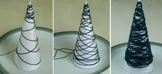 miniature christmas tree ornaments from string