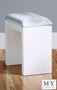 Mirrored Furniture White Gl High Gloss Stool