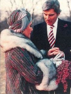 Wedding #7: John Warner, 1976-1982  This time around, Taylor ditched the big screen for politics when choosing her 6th husband, the former Senator John Warner. For the December wedding Taylor wore a fur cuffed coat and matching turban for a dramatic flare.