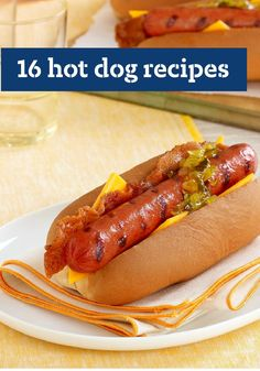 16 Hot Dog Recipes - Spruce up a summertime classic with these 16 Hot Dog Recipes. With how delicious, quick, and easy they are, you're sure to hit dinnertime out of the park! Hot Dogs, Hot Dog Buns, Easter Recipes, Summer Recipes, Hotdog Sandwich, Grilling Recipes, Cooking Recipes, Hot Dog Toppings, Mac And Cheese Bites