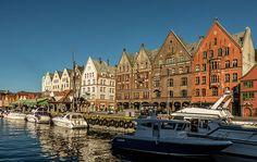 nice Bryggen; Bergen; Norway