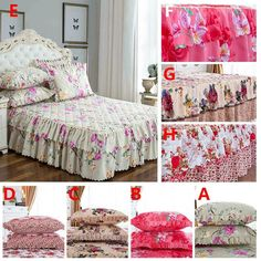 The scope of application: bed, bedroom. randomly texture, the position of the pattern will be different from the picture. Fitted Bed Sheets, Back To Home, Flat Bed, Quilt Cover Sets, Bed Covers, Flower Patterns, Pillow Cases, Blanket, Skirt