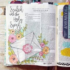 Bible Journaling by @lindseydecor