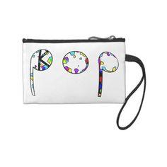 KPOP MUSIC FASHION! Change Purses ($35) ❤ liked on Polyvore featuring bags, handbags, white handbags, white coin purse, change purse, coin purse and white bags