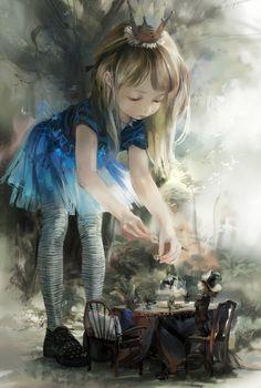 Алиса в Стране чудес. рисунок, алиса в стране чудес, pixiv