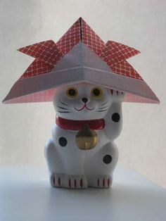 Origami Samurai Hat - clear color photos instruction AND video