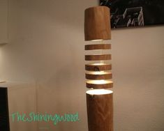 HAND MADE hard wooden floor lamp - floor lamp made of solid wood - TheShiningWood design No2-F-LB120