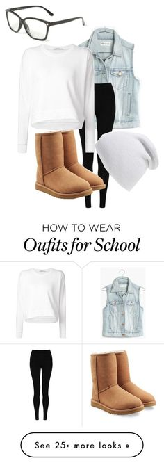 """School mouse"" by galaxygirl11 on Polyvore featuring Madewell, M&S Collection, Alexander Wang, UGG Australia and Phase 3"