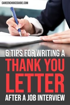 6 tips for writing a thank you letter after a job interview