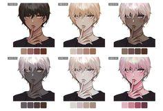 "SOLRAKA☃️솔라카 on Twitter: ""피부색 배색 가이드 왠지 눈두덩이에 칠하고 싶은 팔레트들이 나왔다..😅… """