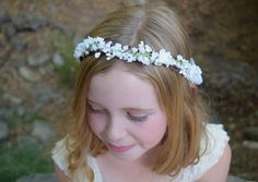 A personal favorite from my Etsy shop https://www.etsy.com/listing/229837342/lily-of-the-valley-flower-girl-wreath