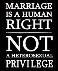 Marriage is a human right, NOT a heterosexual privilege. Selfish Religious fanatics think they OWN marriage. Gay Pride, The Words, Human Rights, Lgbt Rights, Marriage Rights, Civil Rights, In Kindergarten, Inspire Me, In This World