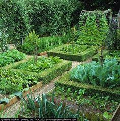 Tunnel thing in the back. Edible Landscaping: Kitchen Garden | jardin potager | bauerngarten | köksträdgård