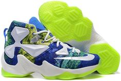 watch 5898c 93772 Nike Lebron 13 Rurality Green Blue White Discount Nike Shoes, Buy Nike Shoes,  Fila