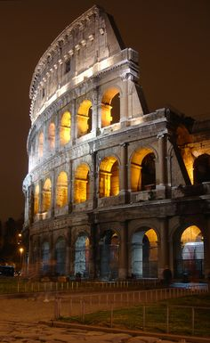 Colosseo at Night, italy! Amazing seeing it in person! Something I will never forget!