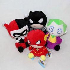 "4Styles America DC Comics Super Heroes Avengers Plush Toys The Flash Batman Harley Quinn The Joker Soft Stuffed Dolls 8"" 20cm #Affiliate"