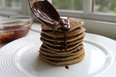 Because the best pancake topping is more pancakes.