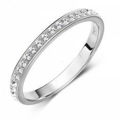 Wonderful Engagement Ring Embellished with Rhinestones