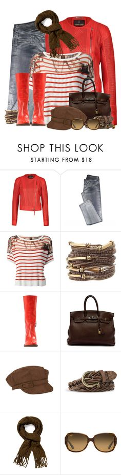 """""""Tone it Down"""" by hollyhalverson ❤ liked on Polyvore featuring Roberto Cavalli, Faith Connexion, Jean Paul Gaultier Soleil, Hermès, Sperry, Vince Camuto, Maui Jim and Lucky Brand"""