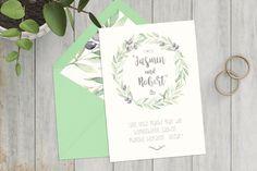 Einladungskarten - Einladung zur Hochzeit | Olivenzweig, grün - ein Designerstück von goodluv-design bei DaWanda   #botanical #olive #invitationtrends #summerwedding #wreath #weddinginvitation #greenery #bridetobe #instabride #love #kinfolk #papeterie #bohowedding #weddingflowers #dawanda #etsy #goodluvdesign Save The Date, Designer, Etsy, Bride, Wedding, Inspiration, Paper Mill, Invites Wedding, Invitation Cards