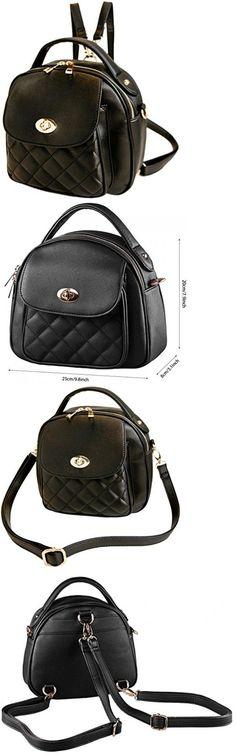 Women Handbags and Purses: Satchel Ladies Leather Vintage Cross Body Hobo Handbag Backpack Bag Tote Purses BUY IT NOW ONLY: $32.95