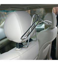 Keep your jacket or coat wrinkle free while driving with this Coat Rack for Car. It attaches easily to the car seat's headrest, no tools or assembly required. Home Storage Solutions, Small Space Solutions, Van Organization, Travelon Bags, Car Seat Headrest, Hanger Clips, Car Racks, Coat Hanger, Travel Accessories