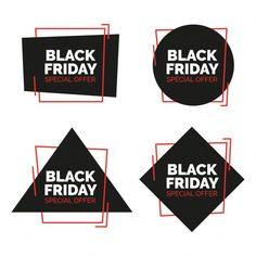 Черная пятница Продажа баннеров. Векторные иллюстрации. Бесплатные векторы