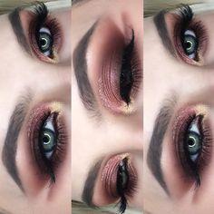 """454 Likes, 25 Comments - Karolina (@xcaromua) on Instagram: """"Close-up of the last look using Soft Glam palette •Eyes: @anastasiabeverlyhills @norvina Soft Glam…"""""""