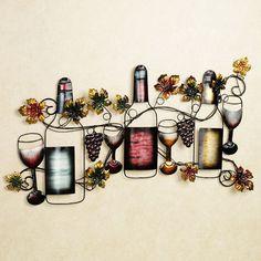 Wine Tasting Metal Wall Art