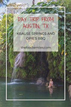 Perfect getaway from Austin, TX on a hot summer day: swimming in gorgeous Krause springs first, then having good smoked brisket at Opie's BBQ just 5 minutes away. Click on pin to see pictures and get more details!