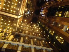 Looking up in the Carnival Pride lobby.