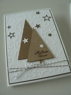 Homemade Christmas cards are the perfect gift for loved ones and of-course, you will enjoy in their creation. All you need is your creativity and paper, glue, scissors. Homemade Christmas Cards, Christmas Cards To Make, Christmas Greeting Cards, Christmas Greetings, Handmade Christmas, Homemade Cards, Holiday Cards, Christmas Diy, Scrapbook Cards