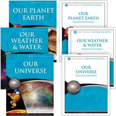 God's Design for Heaven and Earth Complete Set -  Help your children see God's plan for our planet, our solar system, and our universe with this complete earth and space science curriculum. Explore how God designed the earth to support life from our atmosphere to our oceans. Grades 1–8.  $89.00 @AiG @AiGHomeschool