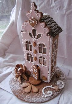 It's time for some Christams Baking - here are some creative Gingerbread House ideas. Be inspired by everything from gingerbread cookies to villages. Gingerbread Village, Christmas Gingerbread House, Noel Christmas, Christmas Goodies, Gingerbread Man, Christmas Treats, Gingerbread Cookies, Xmas, Gingerbread House Patterns