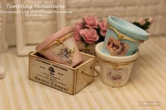 Pot in Shabby Style   112th Dollhouse by TemptingMiniatures, $8.00