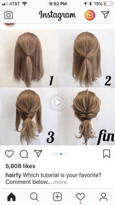 work hairstyles for long hair Easy Hairstyles For Medium Hair, Short Hair Updo, Medium Hair Styles, Braided Hairstyles, Curly Hair Styles, Casual Updos For Medium Hair, Quick Easy Hairstyles, Medium Length Hairstyles, Easy Everyday Hairstyles