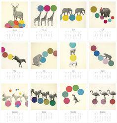 Animal Collective - Mini Calendar 2013. via Etsy.