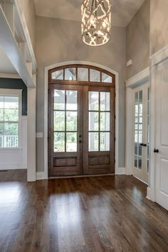 Home Remodeling Interior Double front door decorations light fixtures 51 ideas Style At Home, Home Renovation, Home Remodeling, Flur Design, Hallway Designs, Grey Walls, Home Fashion, My Dream Home, Building A House