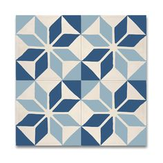 Assila Blue And White Handmade Cement/ Granite 8 x 8-inch Floor and Wall Tile (Pack of 12) (Morocco) | Overstock.com Shopping - The Best Deals on Accent Pieces