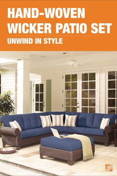 Choose from 16 colors then stretch out and enjoy the comfort offered by the Mill-Valley four-piece patio collection. The all-weather woven wicker patio furniture and comfortable cushions make this sectional the perfect place to unwind with ample seating on your deck. Click to check out this customizable collection and all its options and accessories.