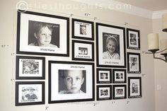 Look Over This Christie's photo gallery wall, with dimensions.  Because she is that awesome, AND she loves cookies.  The post  Christie's photo gallery wall, with dimensions.  Because she is that awes ..
