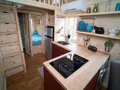 We have a very special Tiny House RV story to share with you this week. Introducing Brian and Skyler's custom Fifth Wheel Tiny House RV! Tiny House Plans, Tiny House On Wheels, Tiny House Living, Small Living, Tiny House Village, Tiny Houses, Tumbleweed Tiny Homes, Tiny House Movement, Tiny Spaces