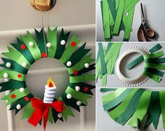 Christmas Crafts For Toddlers, Christmas Arts And Crafts, Santa Crafts, Christmas Wreaths To Make, Toddler Christmas, Christmas Activities, Xmas Crafts, Christmas Diy, Christmas Ornaments