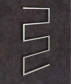 Thermorail Non Heated Towel Rail - Straight Square S Shape - 5 Bars (W) x (H) x (D) 5 Bar, Heated Towel Rail, Modern Bathroom, Shapes, Bathroom Shelves, Funky Bathroom, Modern Bathrooms, Bathroom Modern