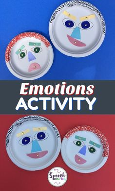 Fun activity to help elementary students learn about feelings, facial expressions and emotions! My students love moving the face parts to show different expressions.  Great for speech therapists and counselors; compliments Social Thinking curriculum.  #feelings #socialskills #emotions