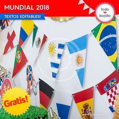 Kits imprimibles del Mundial Rusia 2018 gratis por Todo Bonito