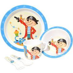 Nodshop - Vajilla infantil (5 piezas), diseño de pirata