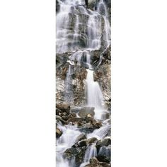 Elevated view of waterfall Grand Teton National Park Wyoming USA Canvas Art - Panoramic Images (36 x 12)