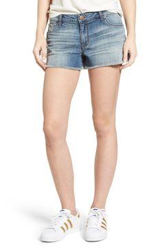 Main Image - STS Blue Frayed Hem Side Slits Denim Shorts