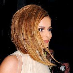 cheryl cole, cheryl cole new hair makeover, cheryl cole blonde hair, Medium Hair Cuts, Medium Hair Styles, Short Hair Styles, Cheryl Cole Hair, Long Asymmetrical Bob, Assymetrical Bob, Long Layered, Angled Bob Hairstyles, Langer Bob